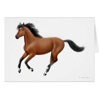 Galloping Bay Horse Greeting Card