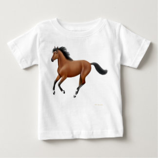 Galloping Bay Horse Infant T-Shirt
