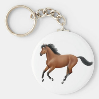 Galloping Bay Horse Keychain