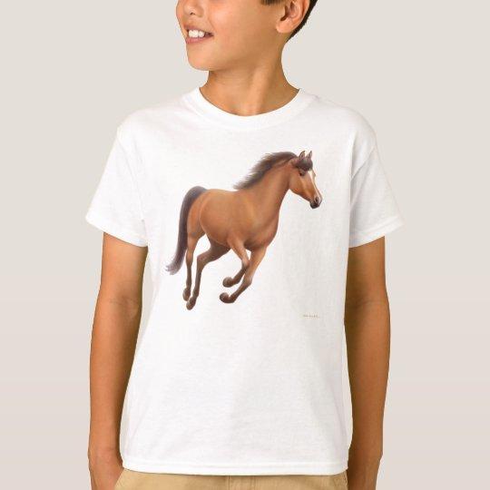 Galloping Bay Horse Kids T-Shirt