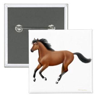 Galloping Bay Horse Pin