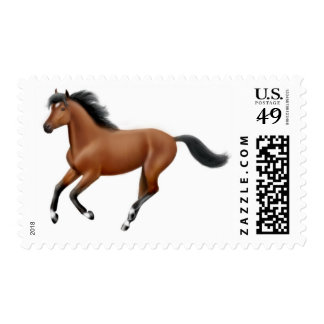 Galloping Bay Horse Postage