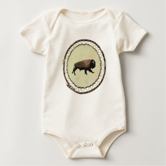 Galloping Bison Baby Bodysuit