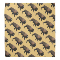 Galloping Bison Bandana