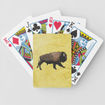 Galloping Bison Bicycle Playing Cards