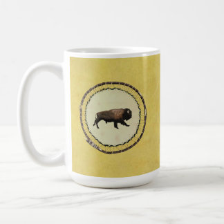 Galloping Bison Classic White Coffee Mug