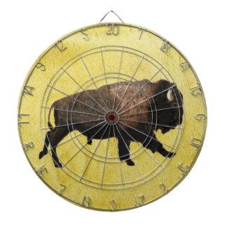 Galloping Bison Dartboard With Darts