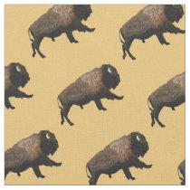 Galloping Bison Fabric