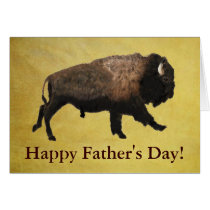 Galloping Bison Father's Day Card
