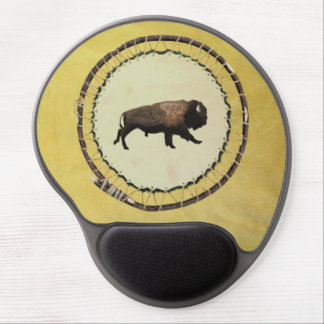 Galloping Bison Gel Mouse Pad