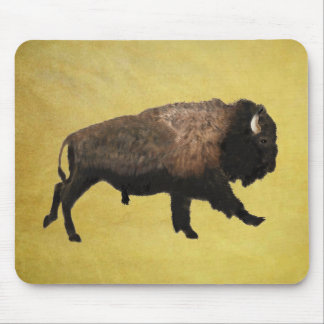 Galloping Bison Mouse Pad