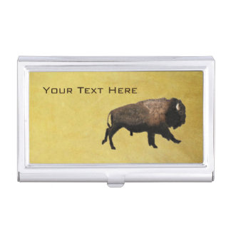 Galloping Bison Business Card Holder