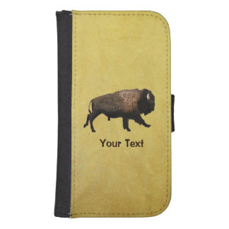 Galloping Bison Galaxy S4 Wallet Cases