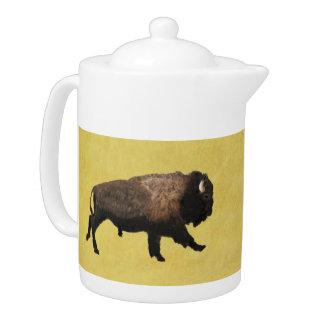 Galloping Bison Teapot