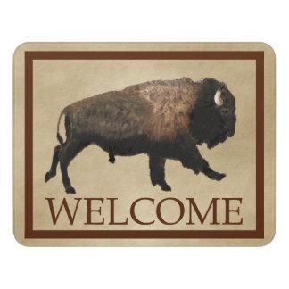 Galloping Bison - Welcome Door Sign