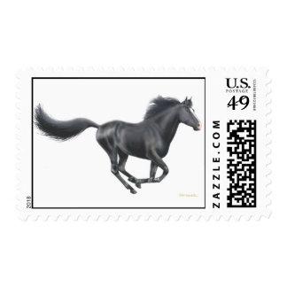 Galloping Black Horse Postage