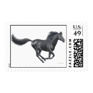 Galloping Black Horse Postage