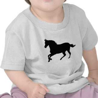 Galloping Black Horse T-shirt