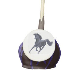 Galloping Black Thoroughbred Horse Cake Pops