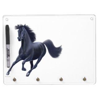 Galloping Black Thoroughbred Horse Dry Erase Board