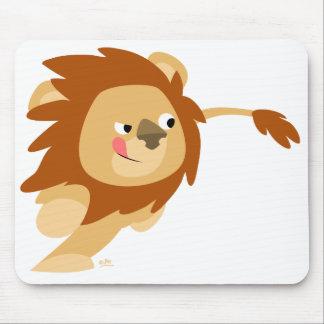 Galloping Cartoon Lion mousepad