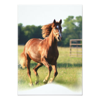 Galloping Chestnut Invitation