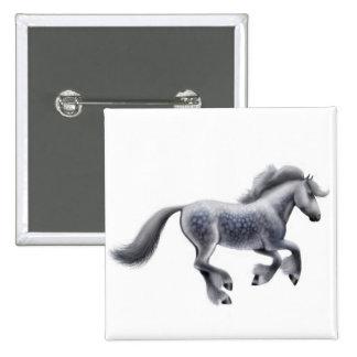 Galloping Dappled Gray Horse Pin