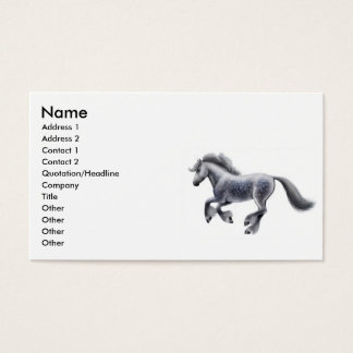 Galloping Draft Horse Business Card