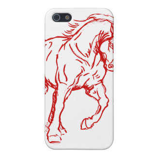 Galloping Draft Horse Case For iPhone SE/5/5s