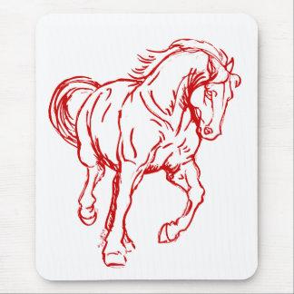 Galloping Draft Horse Mouse Pad
