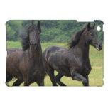 Galloping Friesian Horses iPad Mini Case