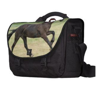 Galloping Friesian Laptop Commuter Bag