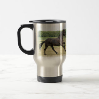 Galloping Friesian Coffee Mugs