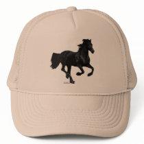 Galloping Friesian Trucker Hat
