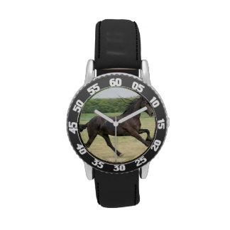 Galloping Friesian Wrist Watch
