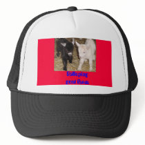 Galloping goat farm trucker hat