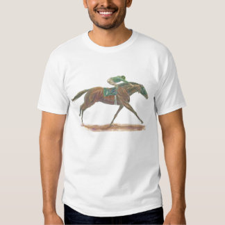 Galloping Green Race Horse Shirt