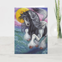 GALLOPING GYPSY HORSE Moon Note Card