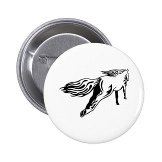 Galloping Horse 2 Inch Round Button