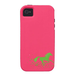 Galloping horse and stars wild horse silhouette iPhone 4/4S case