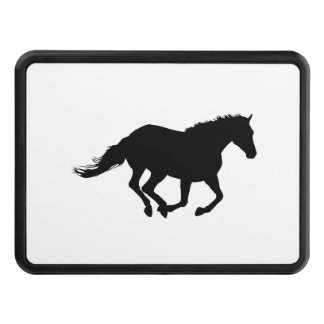 Galloping Horse Black Silhouette Black Horse Art Hitch Covers