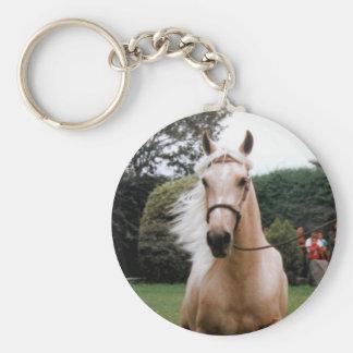 Galloping Horse : Breezy Blond Mane Basic Round Button Keychain