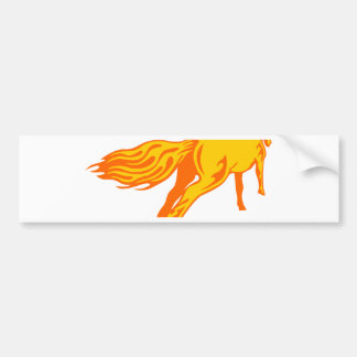 Galloping Horse Bumper Sticker