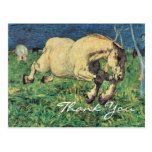 Galloping Horse by Giovanni Segantini Postcard