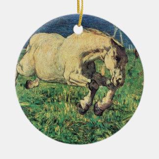 Galloping Horse by Giovanni Segantini, Vintage Art Ceramic Ornament