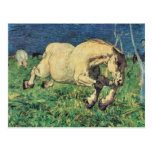 Galloping Horse by Giovanni Segantini, Vintage Art Postcard