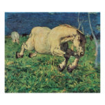 Galloping Horse by Giovanni Segantini, Vintage Art Poster