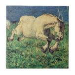 Galloping Horse by Giovanni Segantini, Vintage Art Ceramic Tile