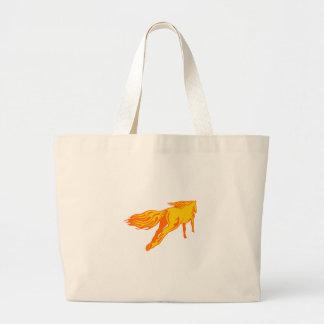 Galloping Horse Large Tote Bag