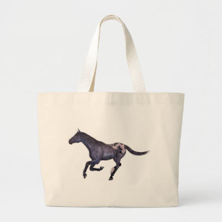galloping horse large tote bag